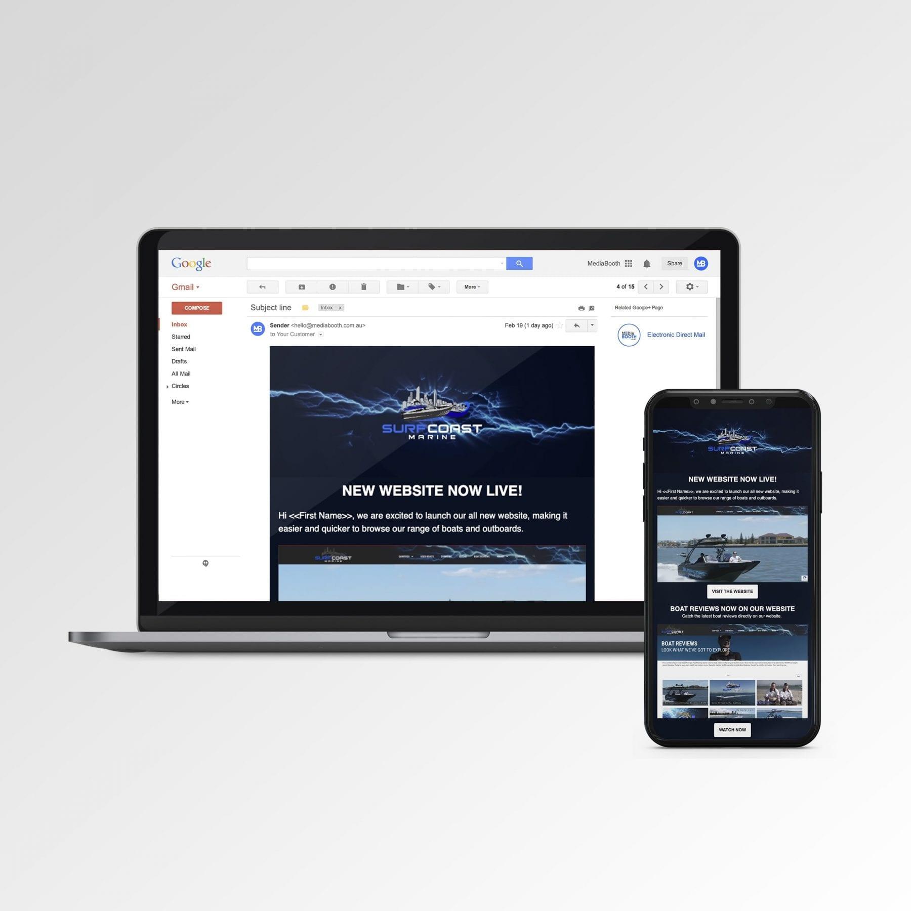 SURF COAST MARINE website Mockup